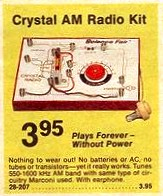 Crystal AM Radio Kit - $3.95