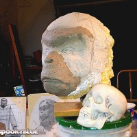 Law Giver head vs life size human skull