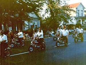 Shriners on little Hondas